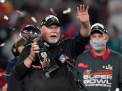 """Tampa Bay coach Bruce Arians said he would need to have been """"smoking something illegal"""" to imagine Super Bowl success (Ashley Landis/AP)"""