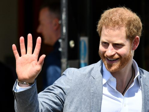 The Duke of Sussex rapped the theme song from The Fresh Prince Of Bel-Air as he joined James Corden on The Late Late Show (Daniel Leal-Olivas/PA)