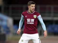 Burnley midfielder Johann Berg Gudmundsson was forced off in the first half against Fulham (Nick Potts/PA)