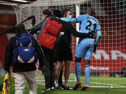 West Ham's Angelo Ogbonna (right) is recovering from an ankle injury (Martin Rickett/PA)