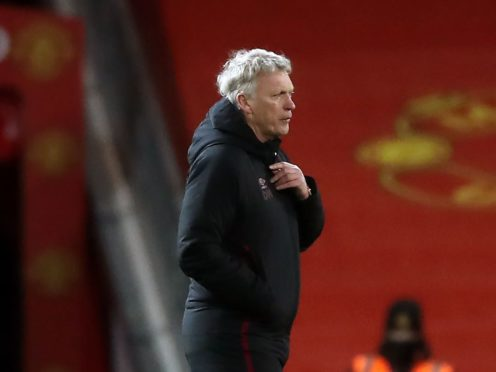 West Ham boss David Moyes has challenged his players to hang on to their place in the Premier League's top six (Martin Rickett/PA)