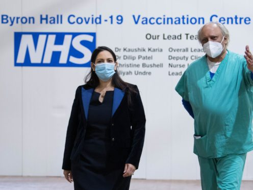 Home Secretary Priti Patel Priti Patel has said tech giants have a social responsibility to take down anti-vaccination content and wider misinformation about Covid-19 (Stefan Rousseau/PA)