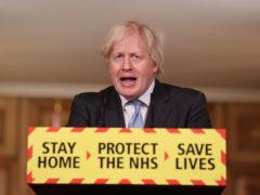 Prime Minister Boris Johnson during a media briefing on coronavirus (Steve Reigate/Daily Express/PA)