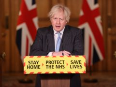 Prime Minister Boris Johnson during a media briefing in Downing Street on coronavirus (Steve Reigate/Daily Express/PA))