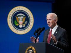 President Joe Biden speaks about his administration's response to the coup in Myanmar (Patrick Semansky/AP)