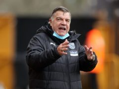 Sam Allardyce had to wait 13 matches for his first West Brom clean sheet (Carl Recine/PA)