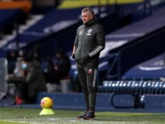 Ole Gunnar Solskjaer saw his team drop two points at West Brom (Naomi Baker/PA).