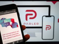 Parler was forced offline following the January 6 attack on the US Capitol by supporters of former President Donald Trump (Christophe Gateau/dpa via AP)