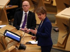 The First Minister was taking questions in parliament on Wednesday (Andrew Milligan/PA)