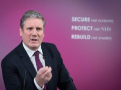 Labour leader Sir Keir Starmer has delivered a virtual speech on Britain's economic future (Stefan Rousseau/PA)