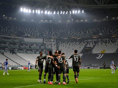 Bruno Fernandes celebrates the opening goal (Marco Alpozzi/LaPresse/AP)