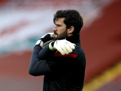 Fluminense have expressed their condolences after the death of the father of Liverpool goalkeeper Alisson Becker (Phil Noble/PA)