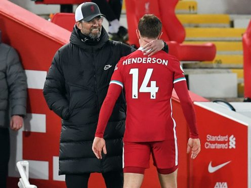 Henderson has been ruled out for at least a month (Paul Ellis/PA)