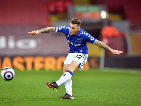Everton defender Lucas Digne has signed a new contract (Paul Ellis/PA)