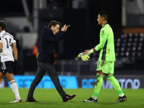 """Scott Parker, left, believes a recall to the French squad for on-loan goalkeeper Alphonse Areola would be """"nothing short of what he deserves"""" (Richard Heathcote/PA)"""