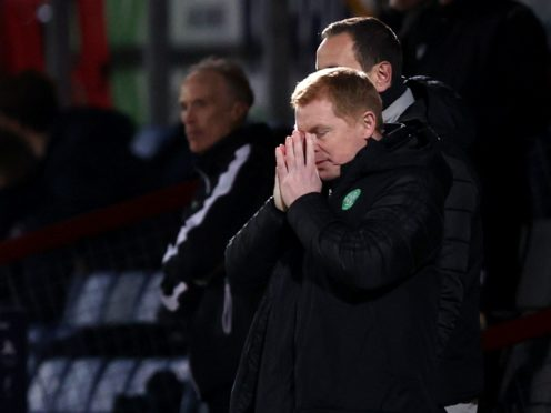 Neil Lennon is facing the sack as Celtic manager after Sunday's defeat to Ross County (Jeff Holmes/PA)