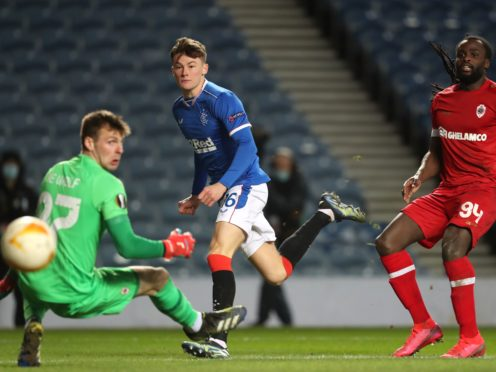 Nathan Patterson was on target for Rangers (Andrew Milligan/PA)
