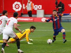 Lionel Messi was in fine form as Barcelona beat LaLiga rivals Sevilla (Angel Fernandez/AP)