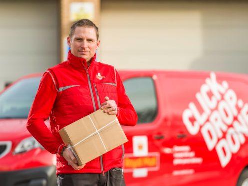 Ben Gorton wears a new uniform in Skipton (Royal Mail/PA)