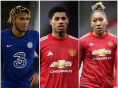 Reece James, Marcus Rashford and Lauren James have all received abuse on social media (Rui Vieira/Martin Rickett/PA)
