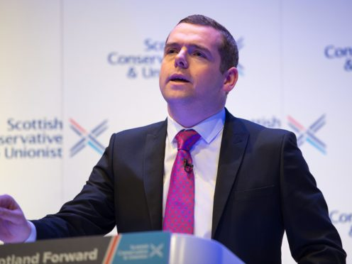 Douglas Ross accused the two Labour leadership candidates of being 'half-hearted' on the constitution. (Colin D Fisher/Scottish Conservatives/PA)
