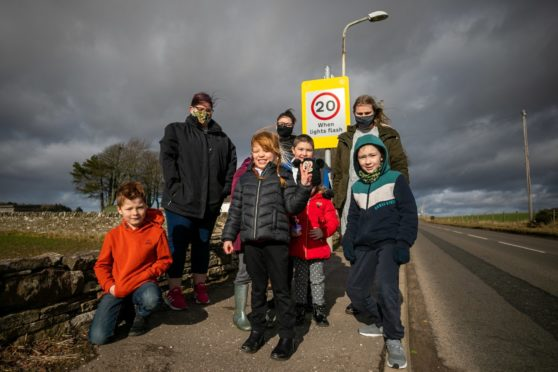 'It's crazy, they flash at weekends': Angus primary school 20mph safety signs on the blink for a year