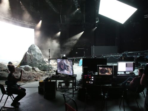 Filming in progress in a Virtual Production Studio similar to the one to be built at the Ulster Screen Academy (LAVAlabs/PA)