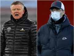 Chris Wilder and Jurgen Klopp (Glyn Kirk/Phil Noble/PA)