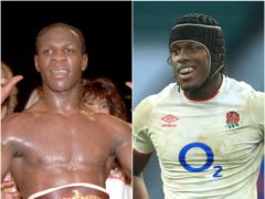 Chris Eubank and Maro Itoje (Tony Harris/Adam Davy/PA)