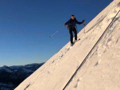 Zach Milligan is shown on his descent down Half Dome in Yosemite National Park, California (Jason Torlano via AP)