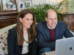 The Duke and Duchess of Cambridge chatted to students from Ulster University's School of Nursing (Kensington Palace/PA)