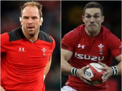 Alun Wyn Jones and George North (Adam Davy/David Davies/PA)