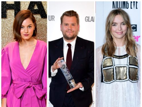 Emma Corrin, James Corden and Jodie Comer are nominated at the 2021 Golden Globe awards (PA)