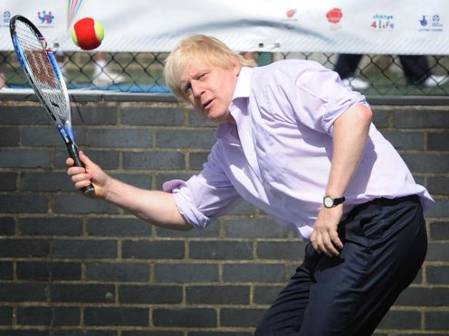 Prime Minister Boris Johnson said he was 'thrilled' he will be able to play tennis again (Jonathan Brady/PA)