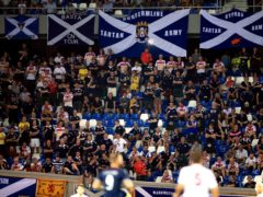 Fans in Scotland are currently not allowed in football stadiums due to Covid-19 (Nick Potts/PA)