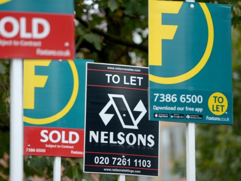 House prices dipped for the second month in a row in February, according to Halifax (Anthony Devlin/PA)