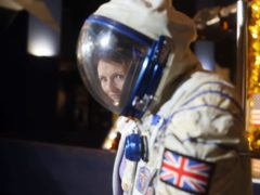 Helen Sharman with her astronaut suit. The pandemic has inspired children to get involved in science, data suggests (Steve Parsons/PA)