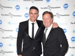 Kevin Pietersen (left) and Piers Morgan attending The KP24 Foundation Charity Gala Dinner, at the Waldorf Hotel ancestral London.