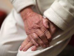 An elderly woman's hands, in Poole, Dorset. (Yui Mok/PA)