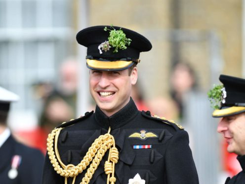 Duke of Cambridge, Colonel of the Irish Guards (Sgt Rupert Frere/MoD/PA)