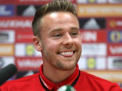 Chris Gunter will become the first Welshman to win 100 caps for the national team when he captains the side against Mexico on Saturday (Nick Potts/PA)