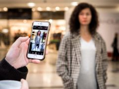 The Style Seeker app uses artificial intelligence technology to scan clothes and direct customers to similar products at stores within Hammerson shopping centres (PA)