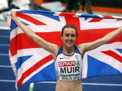 Laura Muir won double gold at the 2017 European Indoor Championships (Martin Rickett/PA)
