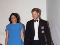 The Duke and Duchess of Sussex during a formal dinner in Fiji (Ian Vogler/Daily Mirror/PA)