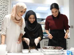 The Duchess of Sussex during a previous visit to the Hubb Community Kitchen (Chris Jackson/PA)
