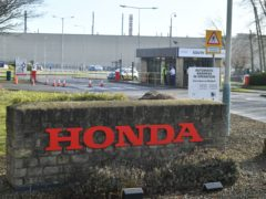 A general view of a sign outside the Honda plant in Swindon, which the company has confirmed will close in 2021 with the loss of 3,500 jobs.