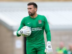 Northampton's Steve Arnold is sidelined due to a medial ligament problem (Barrington Coombs/PA)