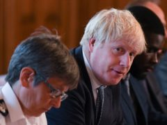 Prime Minister Boris Johnson and Metropolitan Police Commissioner Cressida Dick (Daniel Leal-Olivas/PA)