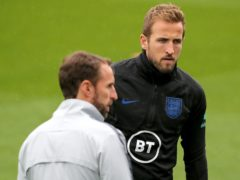 Harry Kane, right, remains focused according to England manager Gareth Southgate (Mark Kerton/PA)