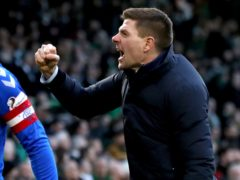 Rangers boss Steven Gerrard is looking forward to a title celebration (Andrew Milligan/PA)